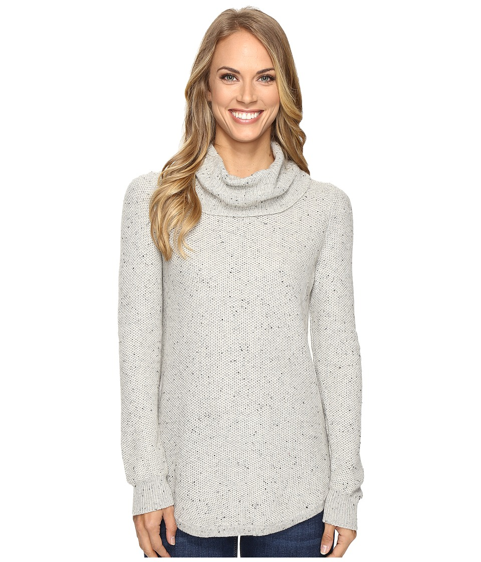 Lucky Brand - Side Zip Turtleneck (Heather Grey) Women's Clothing