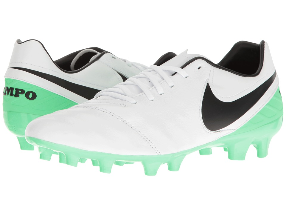 Nike - Tiempo Mystic V FG (White/Black/Electro Green) Men's Soccer Shoes