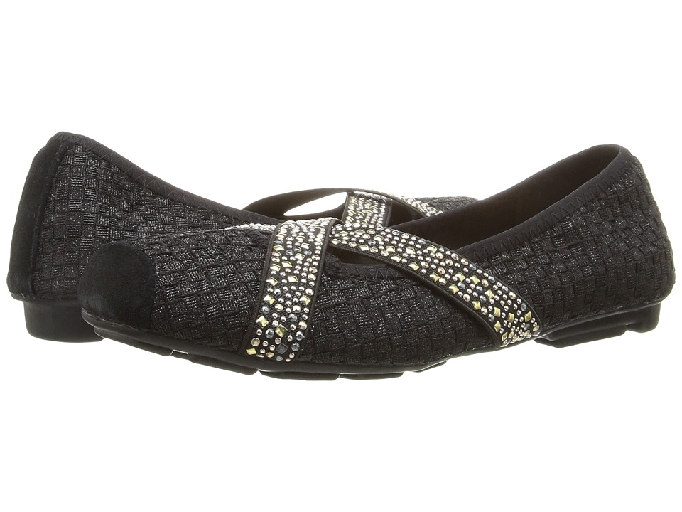 bernie mev. - Point (Black Metallic) Women's Slip on Shoes
