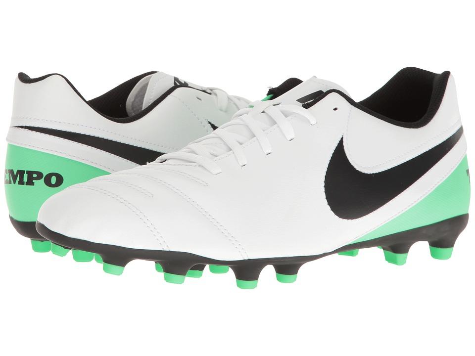 Nike - Tiempo Rio III FG (White/Black/Electro Green) Men's Soccer Shoes
