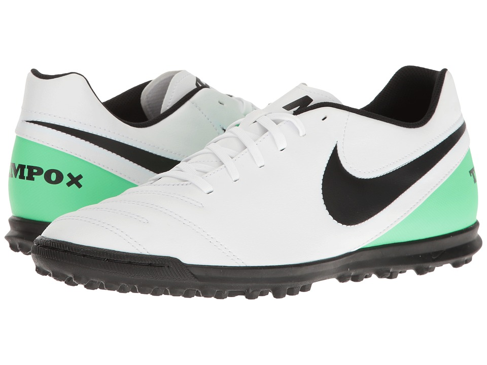 Nike - TiempoX Rio III TF (White/Black/Electro Green) Men's Soccer Shoes