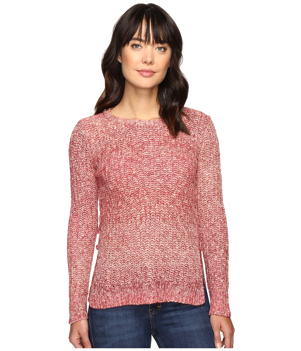Lucky Brand - Omber Lace-Up Pullover (Red Multi) Women's Clothing