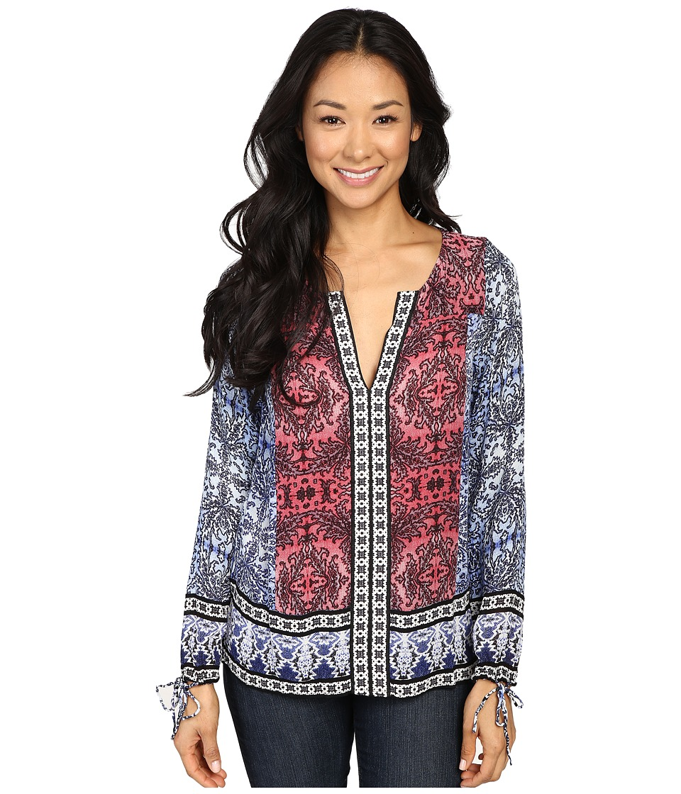 Lucky Brand - Long Sleeve Top with Border Print (Multi) Women's Clothing