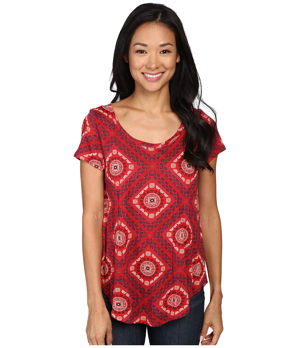 Lucky Brand - Tile Tee (Red Multi) Women's T Shirt