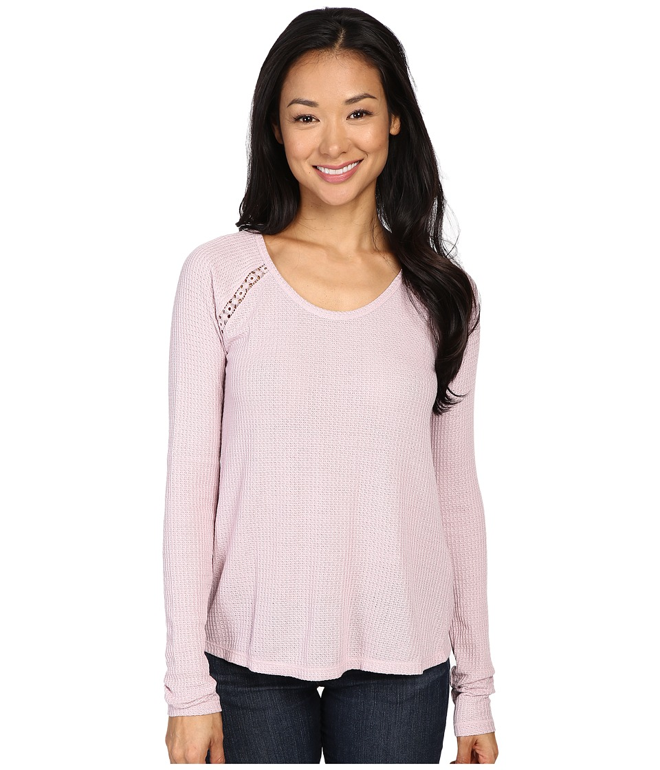 Lucky Brand - Lace Mixed Thermal Top (Violet Ice) Women's Clothing