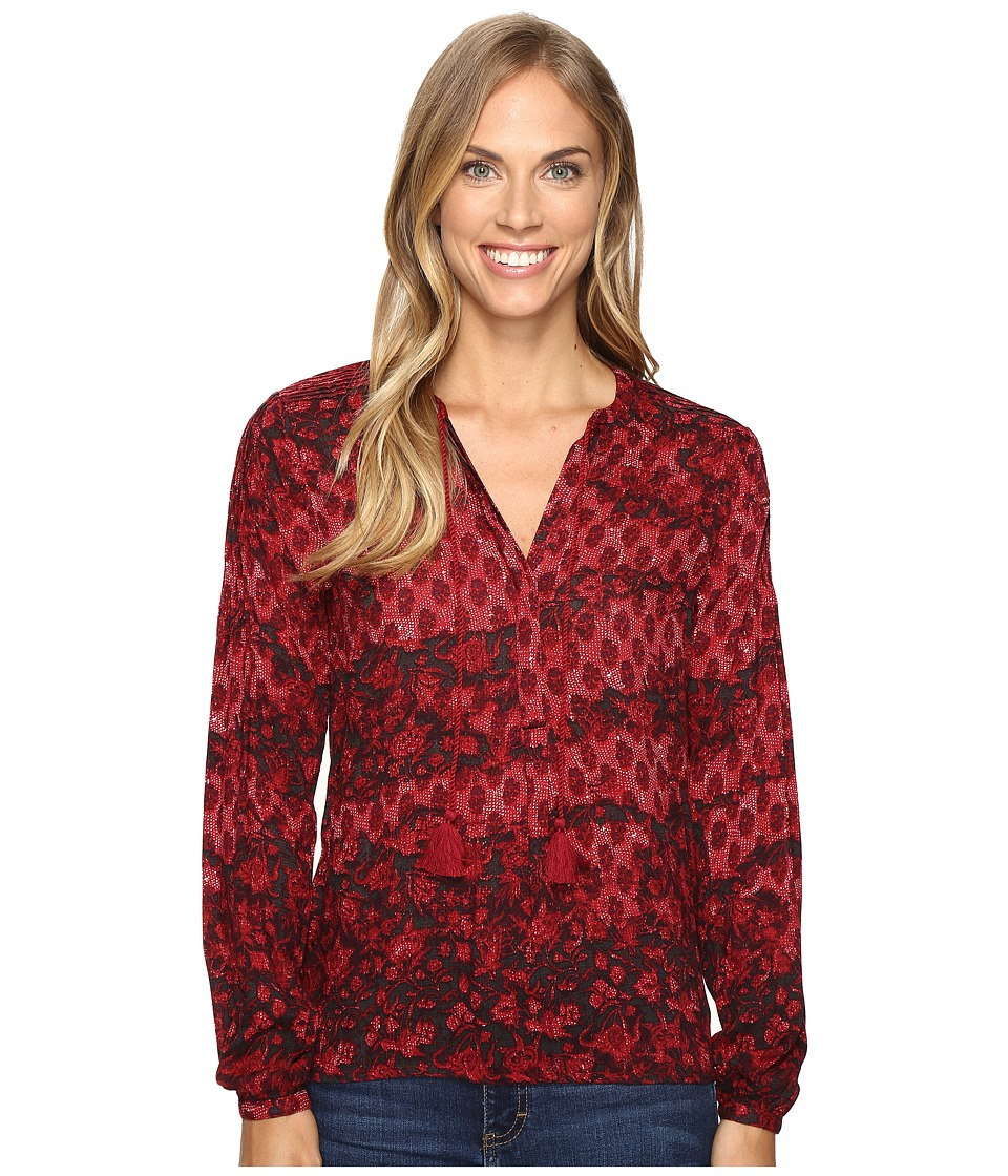 Lucky Brand - Floral Blouse (Red Multi) Women's Blouse