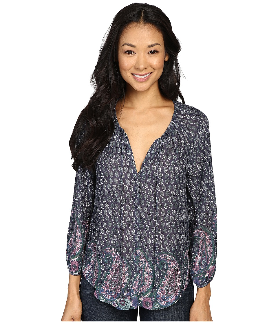 Lucky Brand - Paisley Print Blouse (Green Multi) Women's Blouse