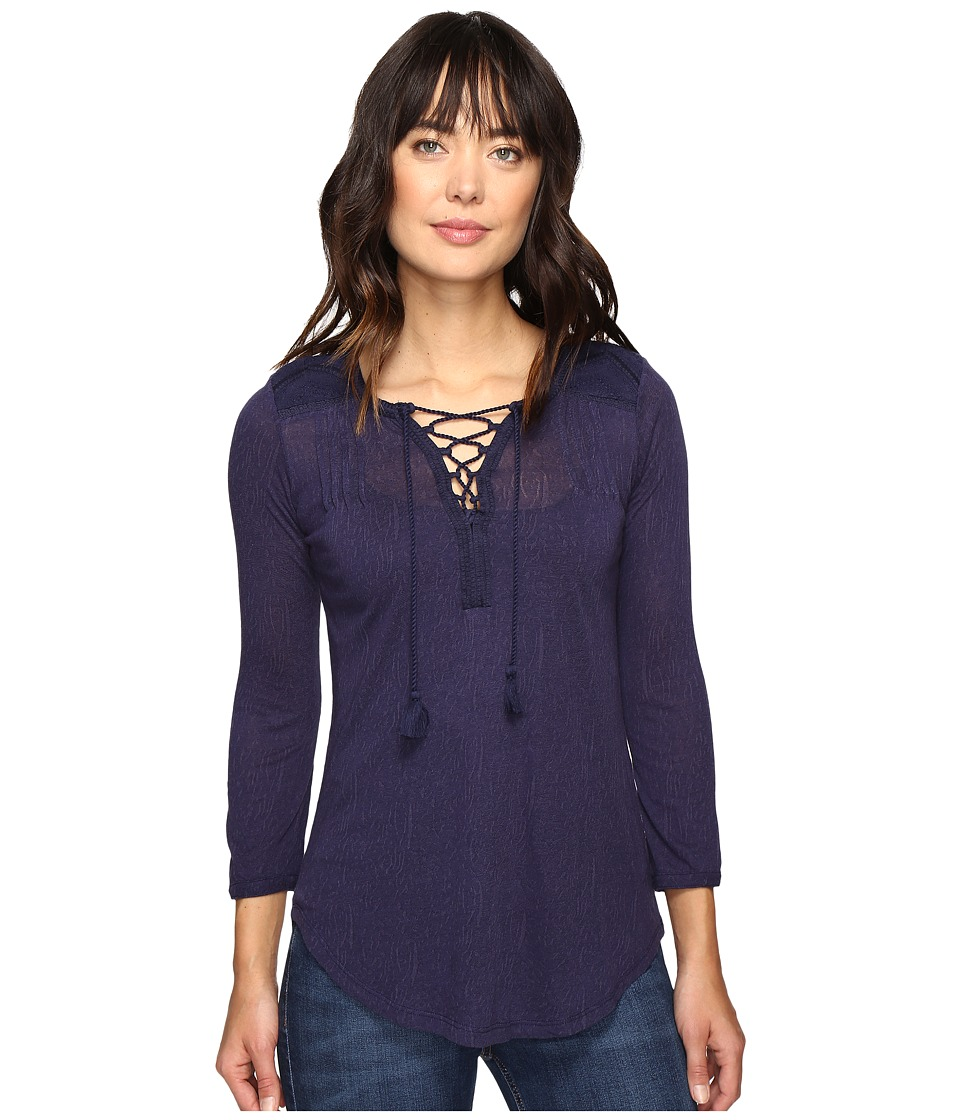 Lucky Brand - Lace Front Peasant (Eclipse) Women's Clothing