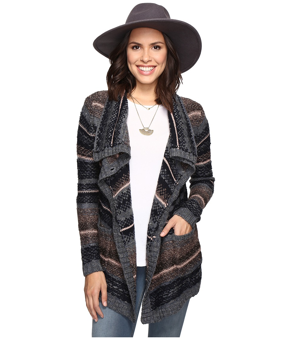 Lucky Brand - Ombre Cardigan (Navy Multi) Women's Sweater