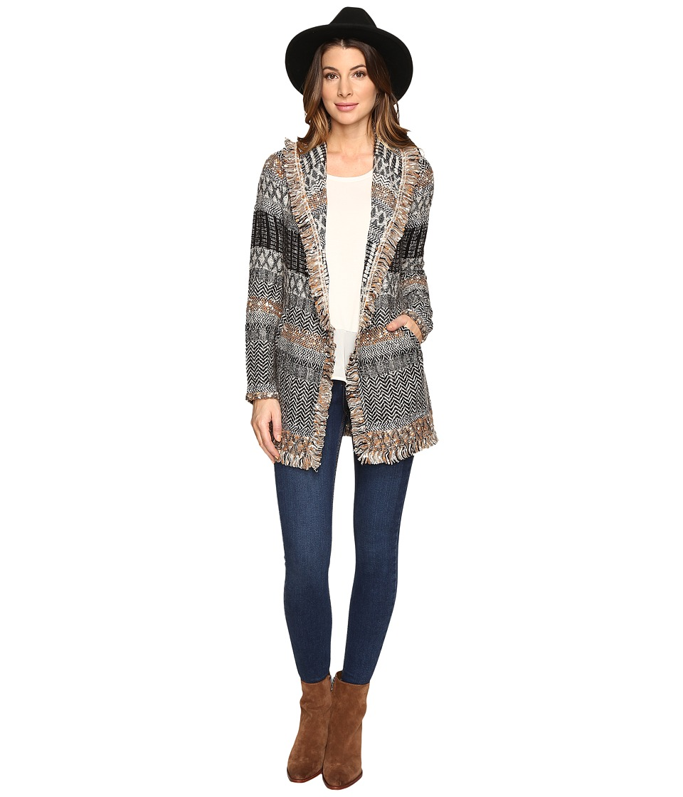 Lucky Brand - Blanket Cardigan (Natural Multi) Women's Sweater