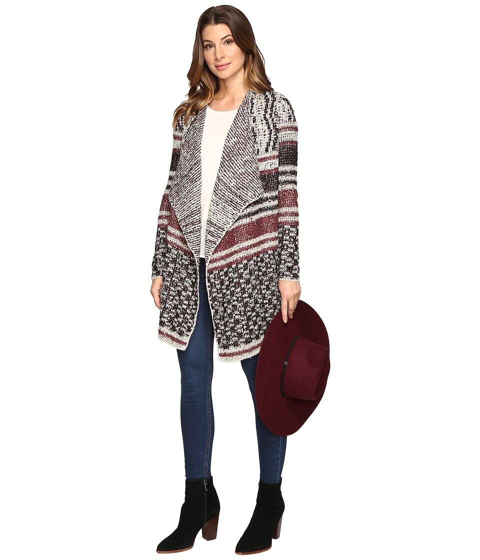 Lucky Brand - Mixed Striped Cardigan (Multi) Women's Sweater