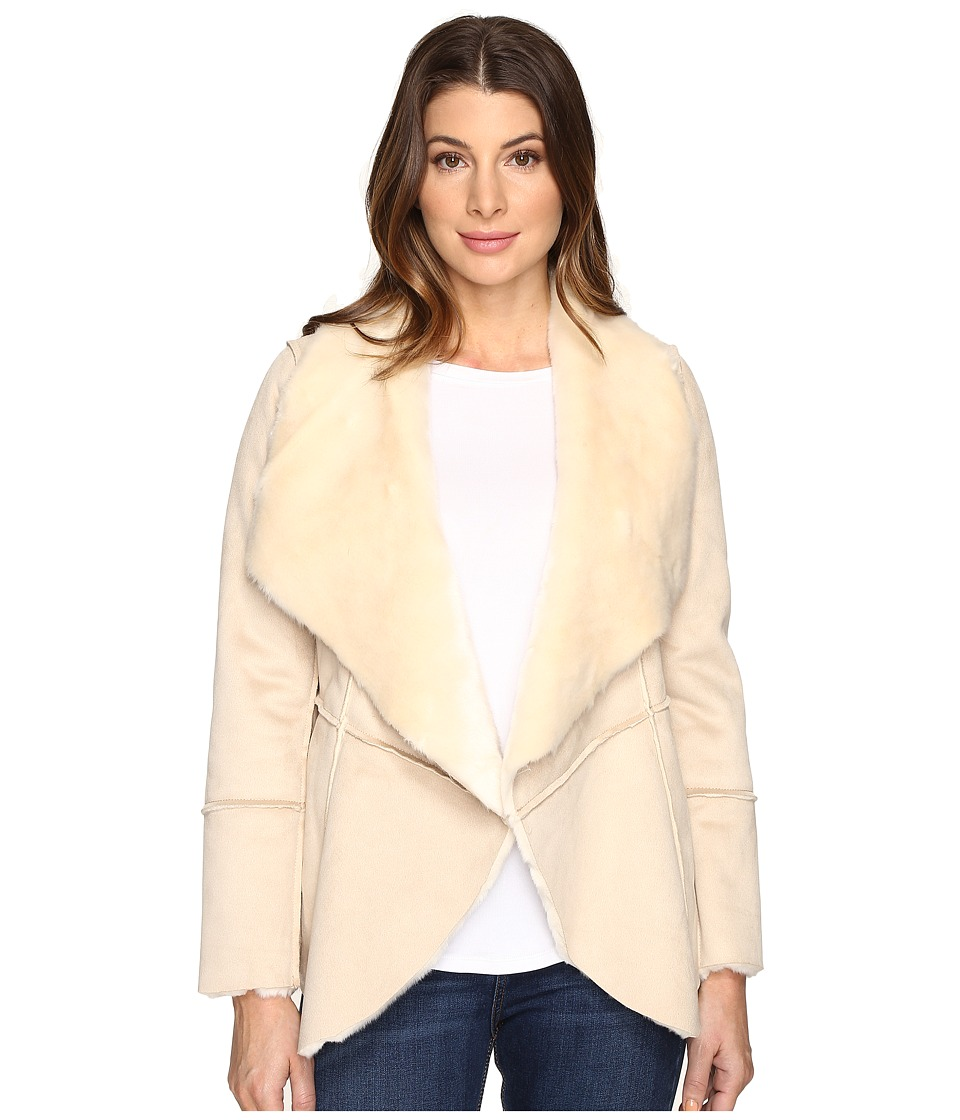 Lucky Brand - Faux Shearling Waterfall Jacket (Natural) Women's Coat