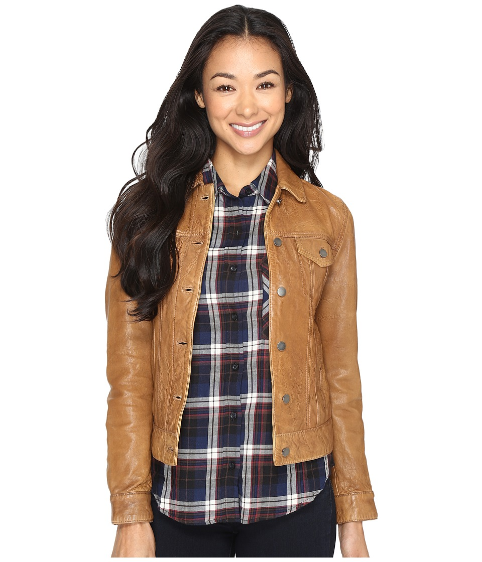 Lucky Brand - Trucker Jacket (Cognac) Women's Coat