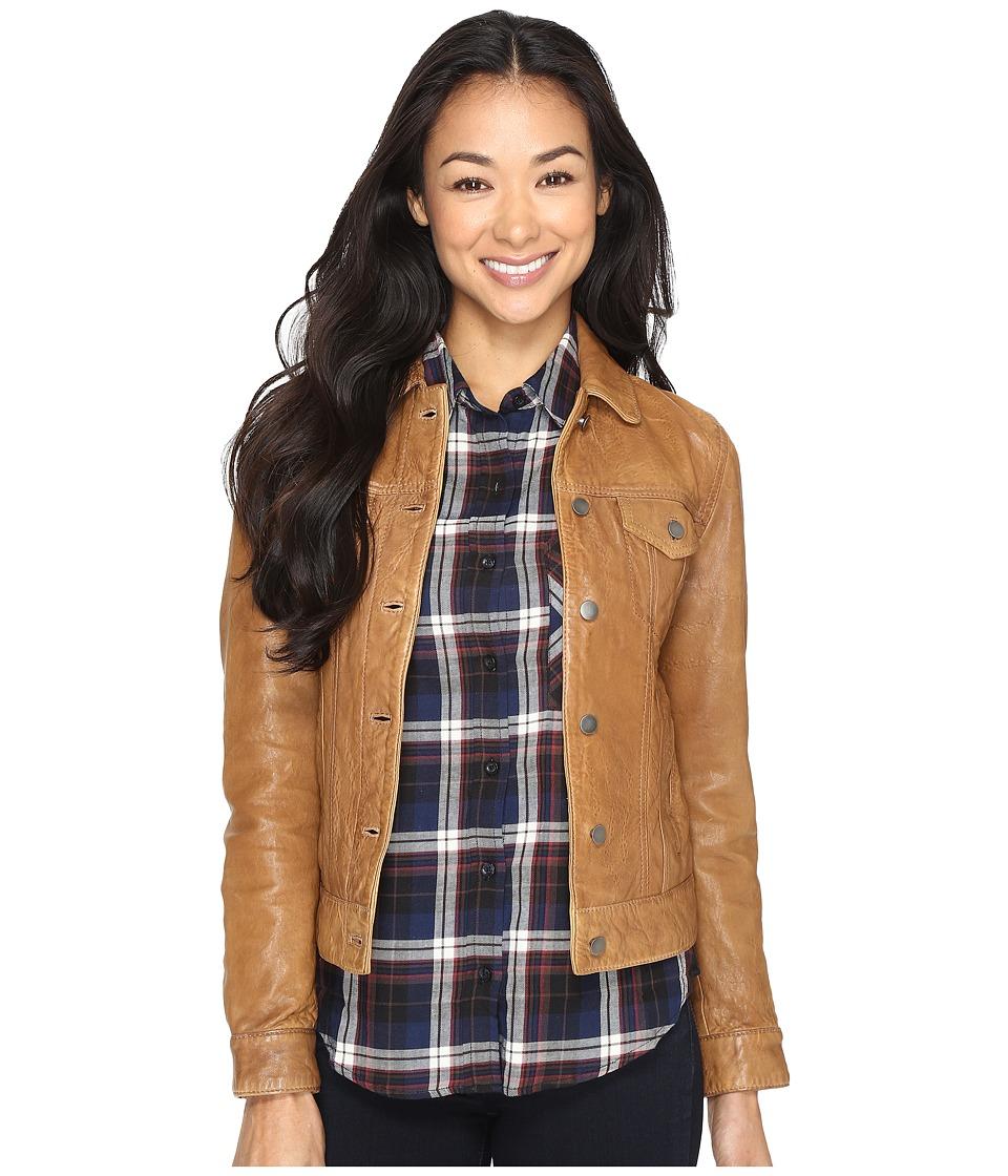 Lucky Brand - Trucker Jacket (Cognac) Women's Coat