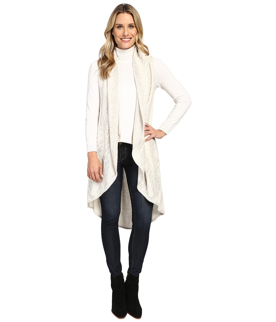 Lucky Brand - Jacquard Sweater Vest (White Multi) Women's Sweater