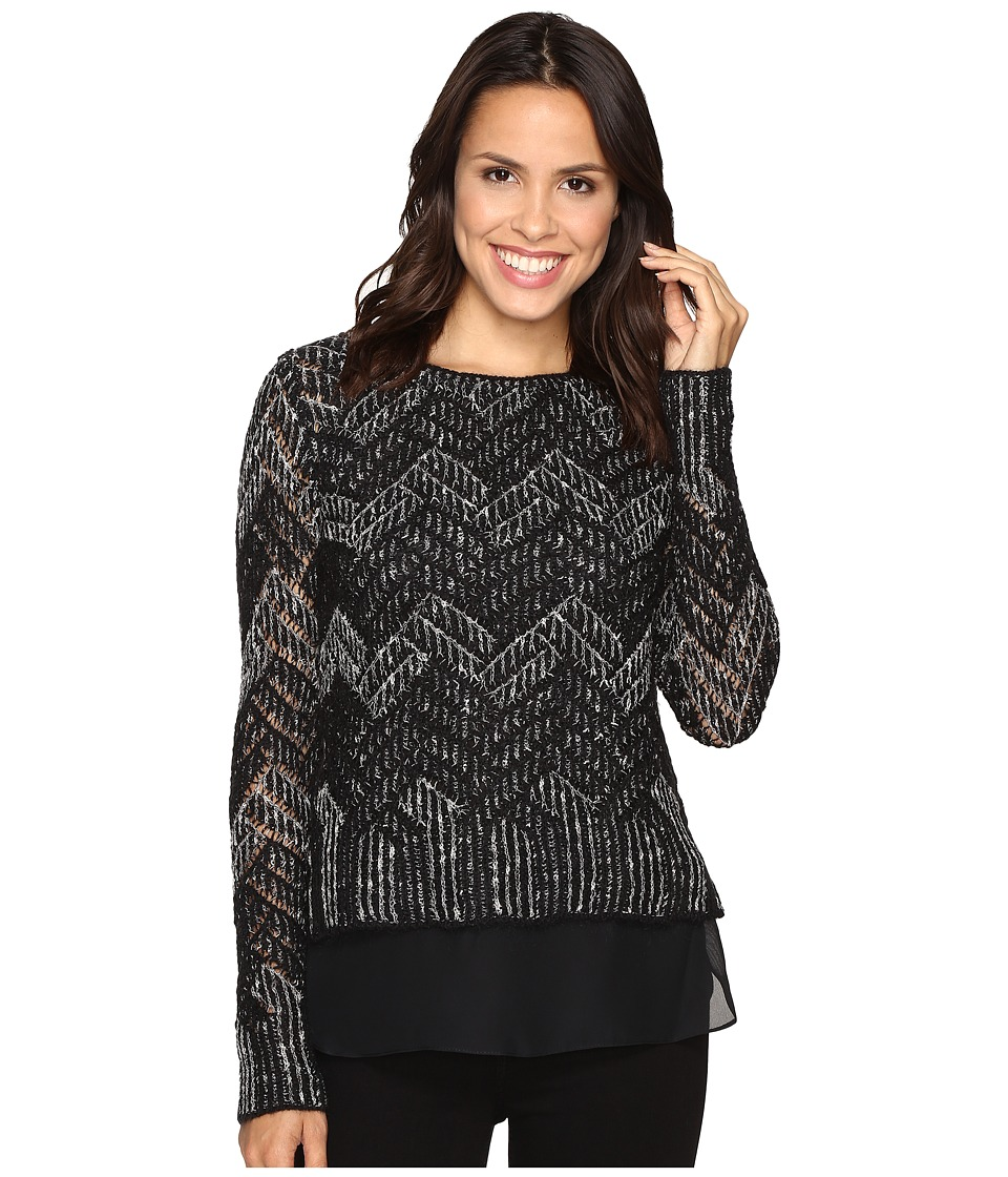 Lucky Brand - Chevron Shine Sweater (Black Combo) Women's Sweater