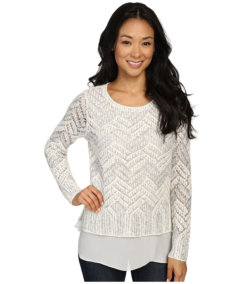 Lucky Brand - Chevron Shine Sweater (White Combo) Women's Sweater