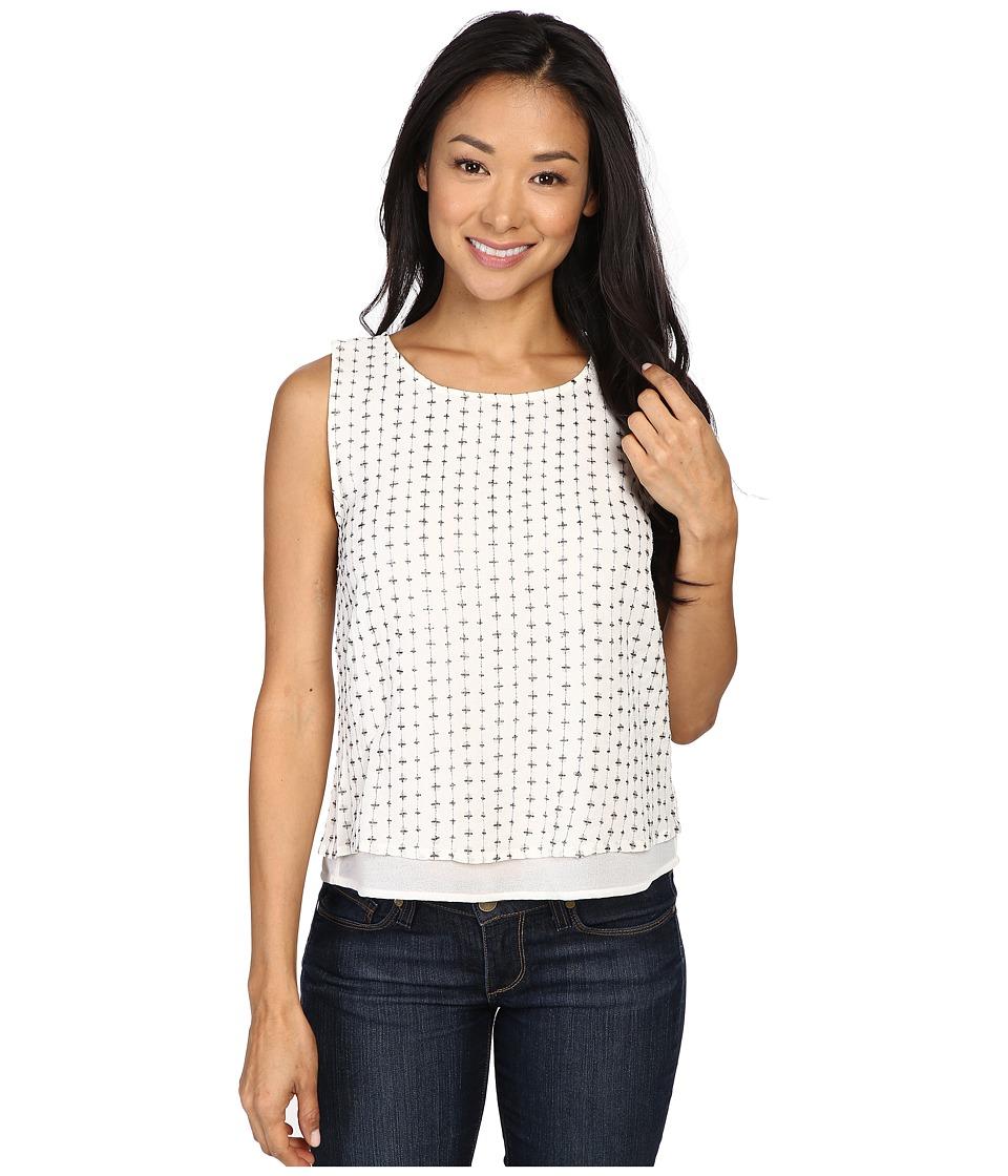 Lucky Brand - Sequin Tank Top (Marshmallow) Women's Sleeveless