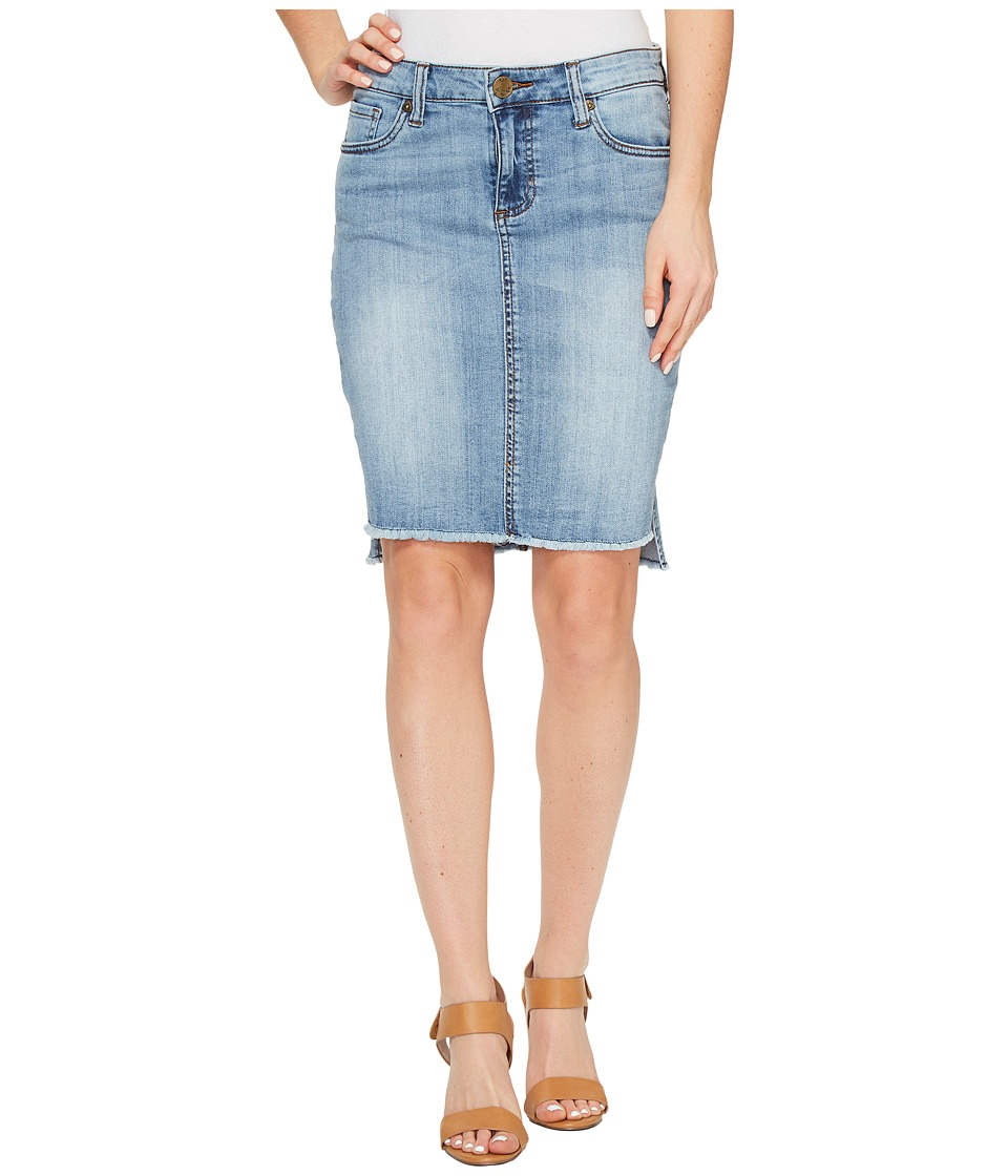 KUT from the Kloth - Connie Hi-Low Skirt in Dashing (Dashing/New Vintage Base Wash) Women's Skirt