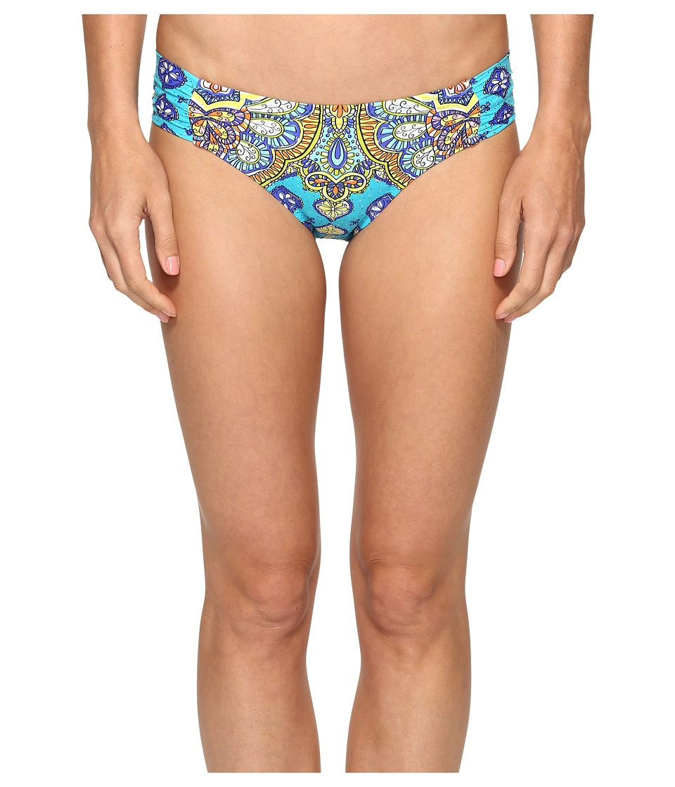 Trina Turk Corsica Shirred Side Hipster Bottom (Turquoise) Women