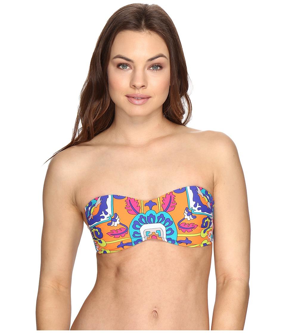 Trina Turk - Tapestry Bandeau Top (Multi) Women's Swimwear