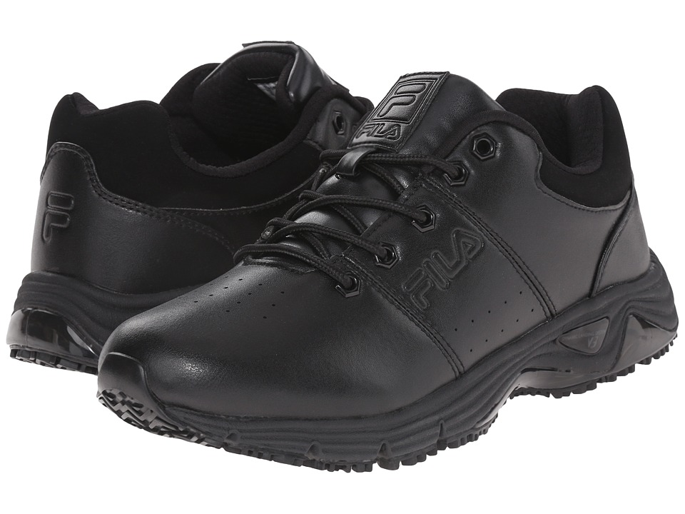 Fila Memory Breach Slip Resistant Low (Black/Black/Black) Men