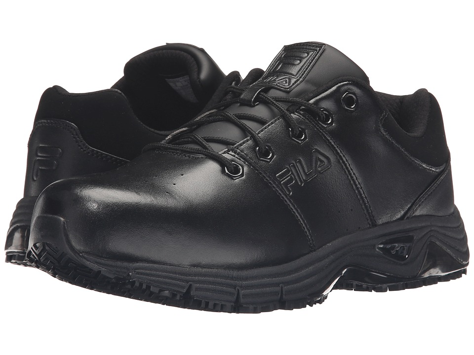 Fila Memory Breach Slip Resistant Steel Toe Low (Black/Black/Black) Men