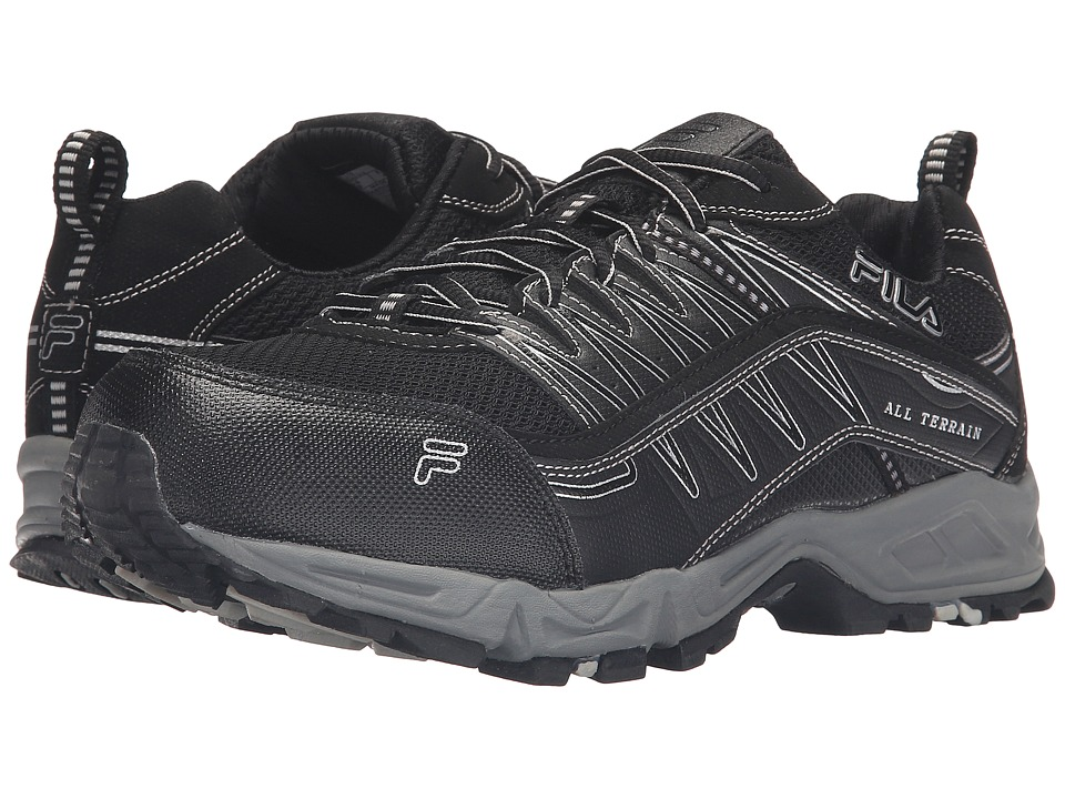 Fila Memory At Peake Steel Toe (Black/Black/Metallic Silver) Men
