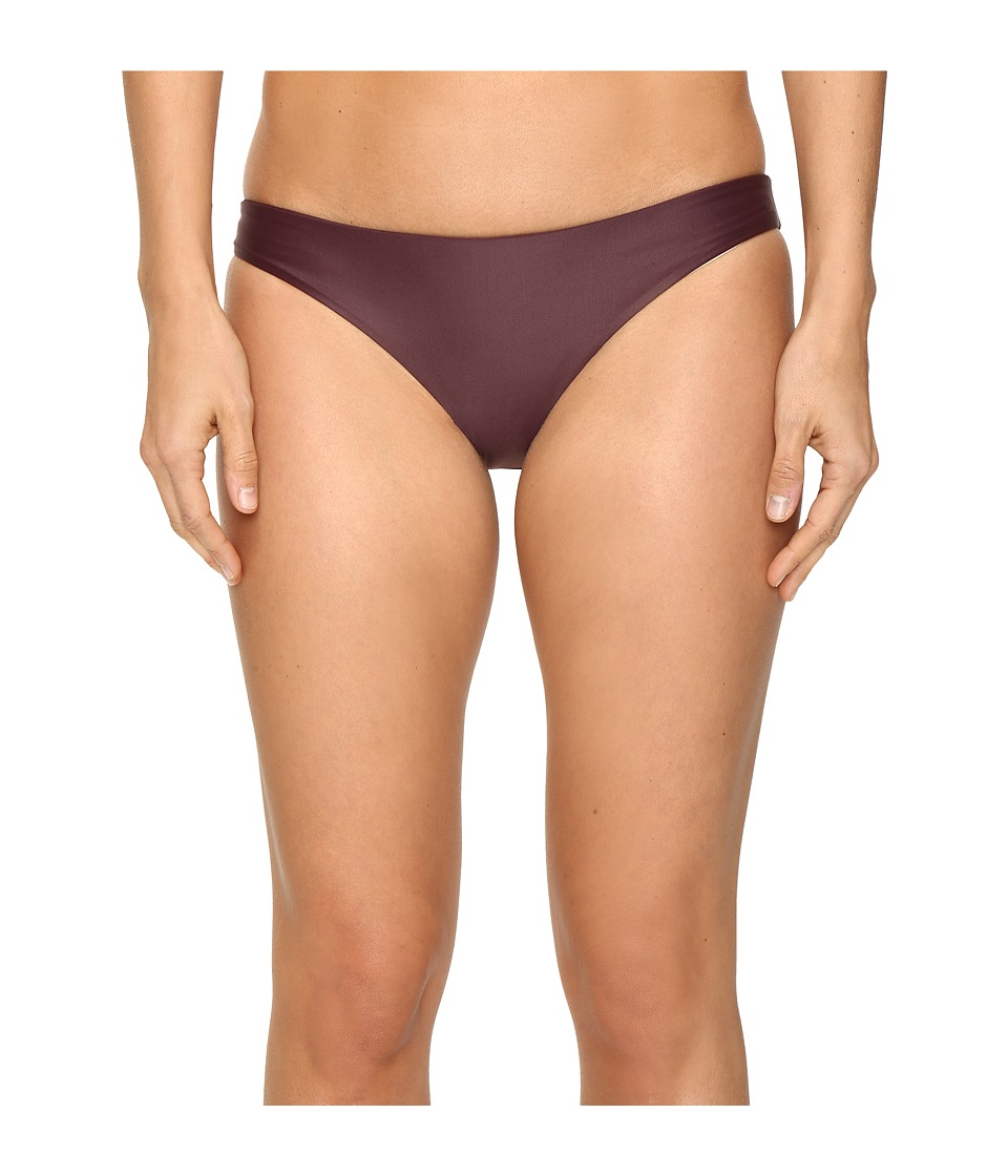 MIKOH SWIMWEAR - Zuma Full Coverage Bottom (Wine) Women's Swimwear