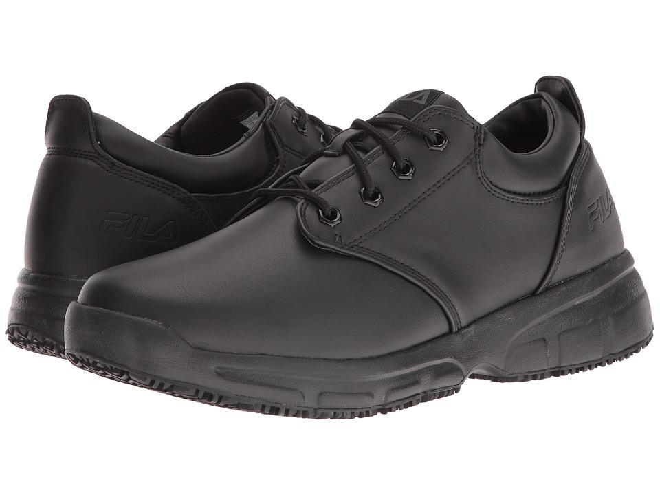 Fila - Memory Blake Slip Resistant (Black/Black/Black) Men's Shoes