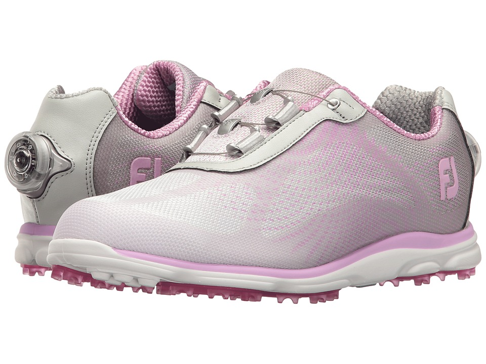 FootJoy - Empower Spikeless Sublimated BOA (Silver/Lilac) Women's Golf Shoes