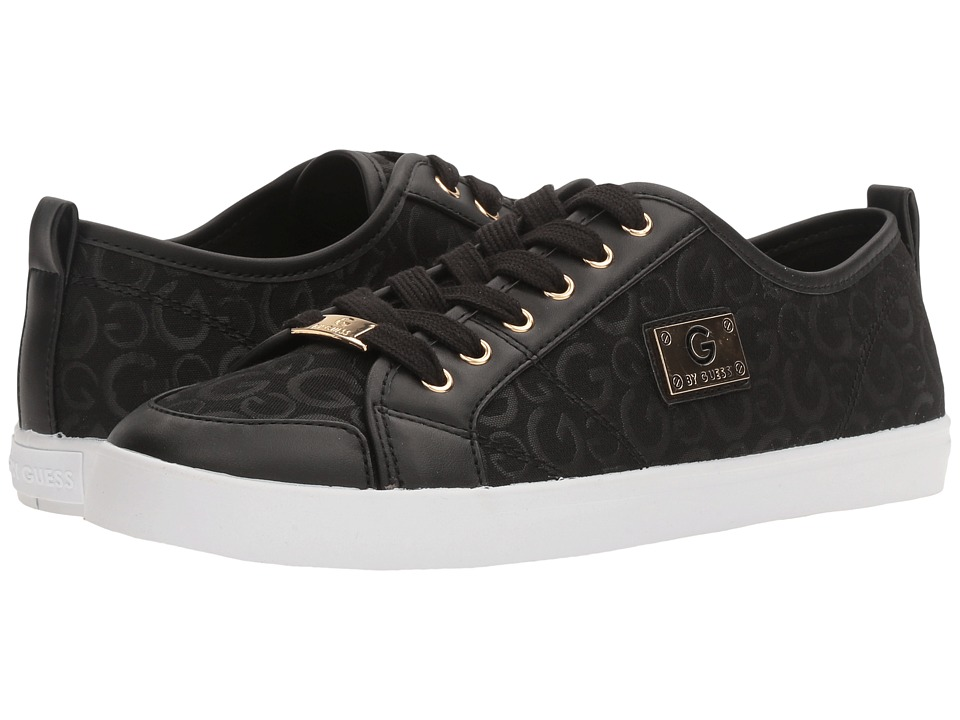 G by GUESS - Mallory (Black Logo Print) Women's Lace up casual Shoes