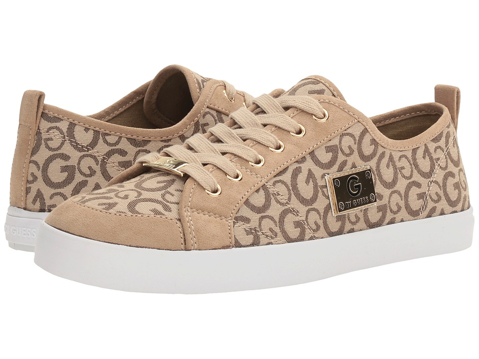 G by GUESS - Mallory (Taupe Logo Print) Women's Lace up casual Shoes