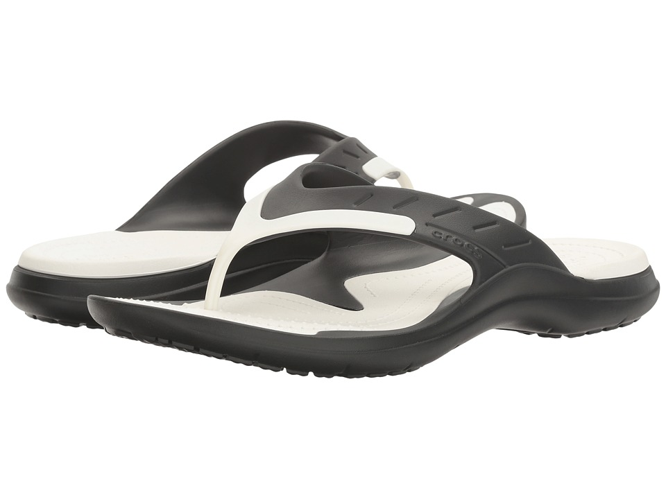 Crocs - Modi Sport Flip (Black/White) Men's Sandals