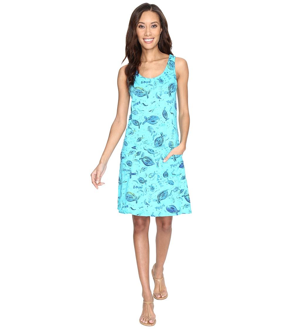 Fresh Produce - Float Drape Dress (Luna Turquoise) Women's Dress