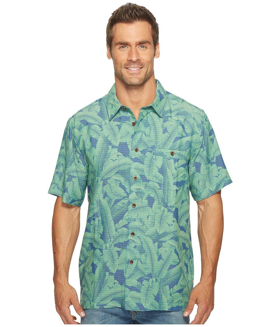 Quiksilver Waterman - Banana Short Sleeve Woven Top (Major Blue) Men's Clothing
