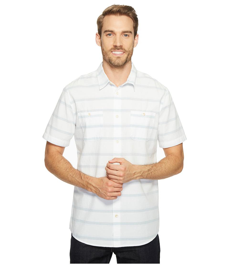 Quiksilver Waterman - St Vincent Woven Top (White) Men's Clothing
