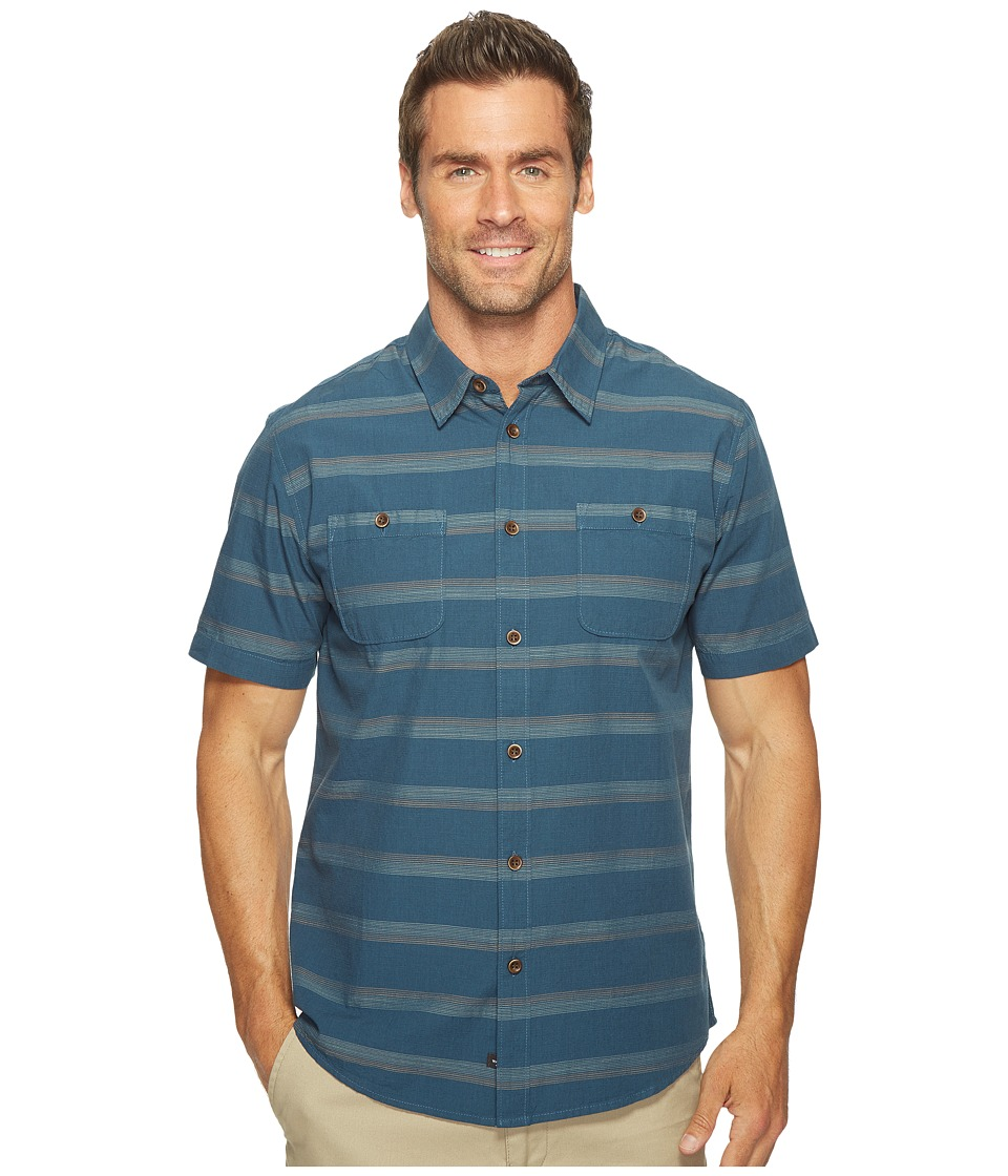 Quiksilver Waterman - St Vincent Woven Top (Major Blue) Men's Clothing