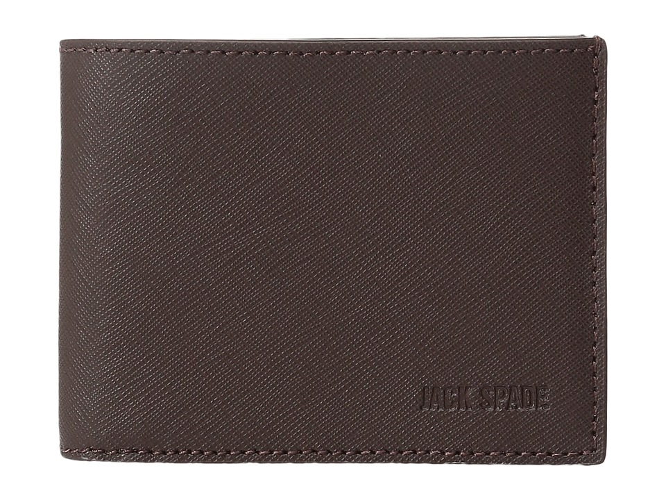 Jack Spade - Barrow Leather Slim Billfold (Mahogany) Bill-fold Wallet