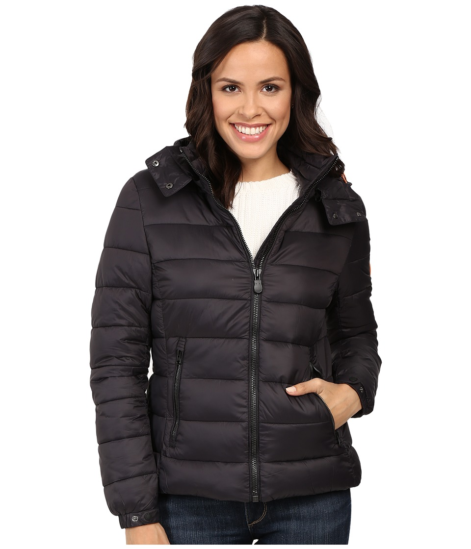Save the Duck - Hooded Puffer Jacket (Black) Women's Coat