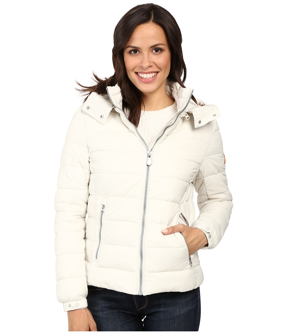 Save the Duck - Hooded Puffer Jacket (Snow White) Women's Coat