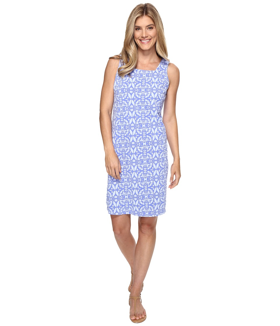 Fresh Produce - Island Batik Square Neck Dress (Periwinkle) Women's Dress