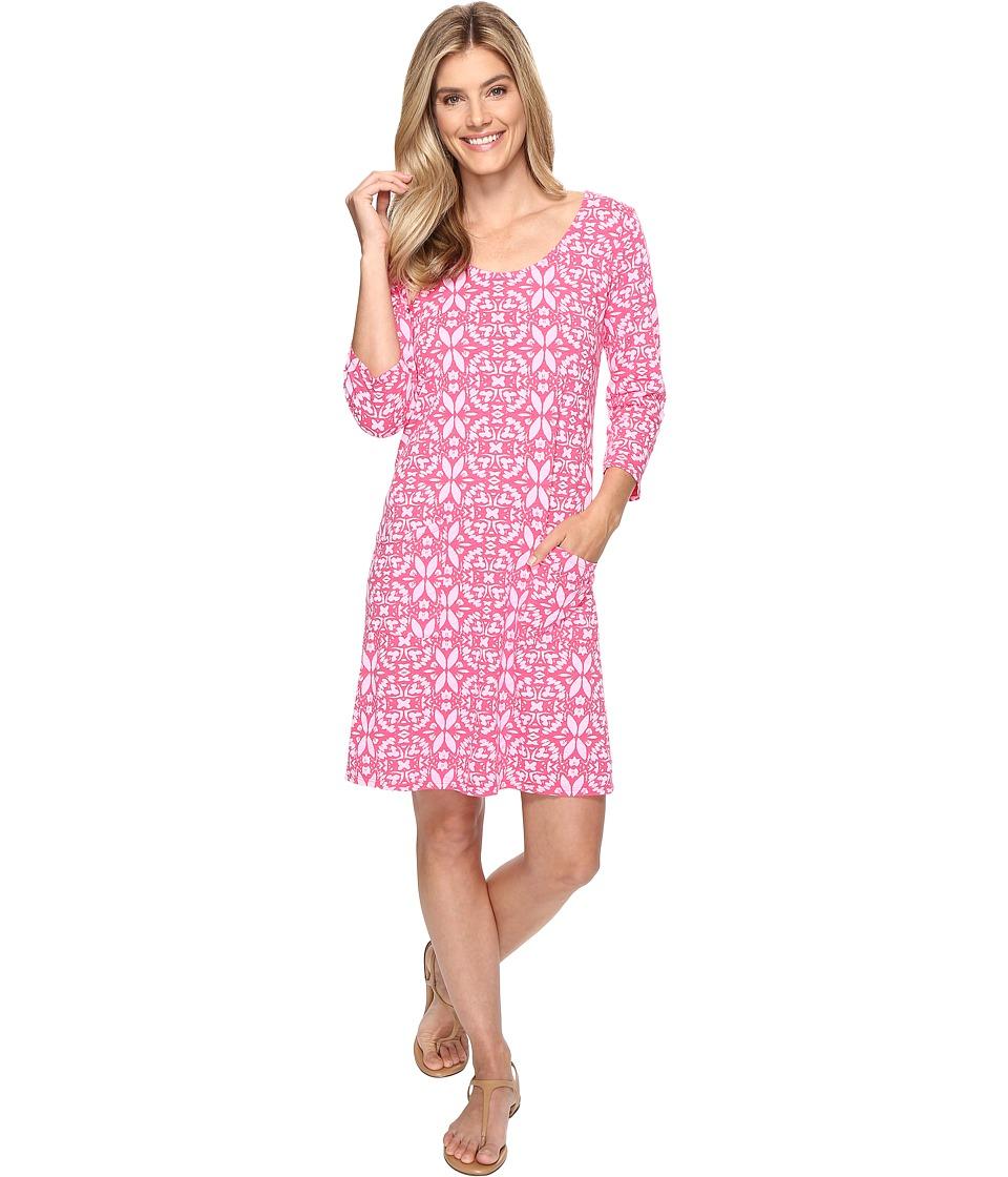 Fresh Produce - Island Batik Dalia Dress (Papaya Fruit Pink) Women's Dress