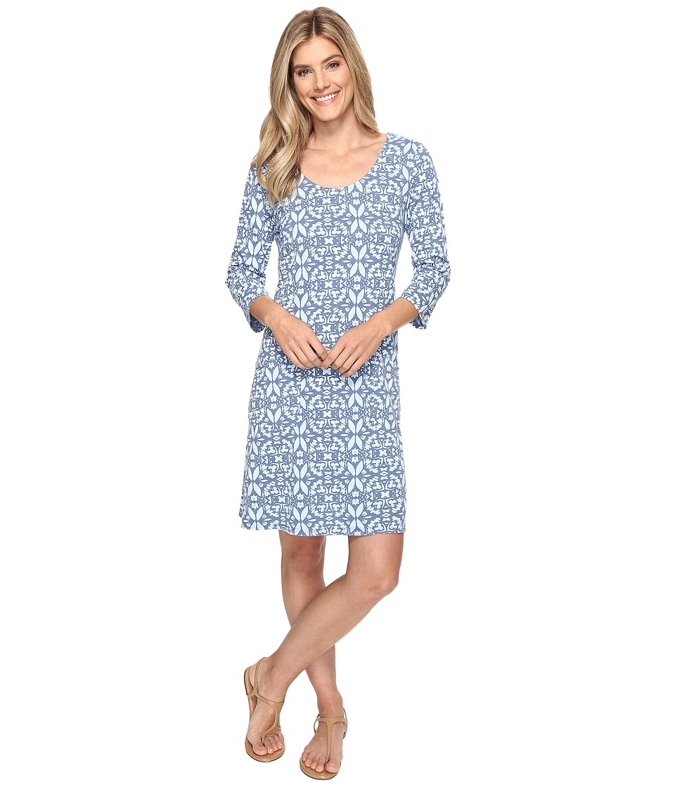 Fresh Produce - Island Batik Dalia Dress (Deep Dive Blue) Women's Dress