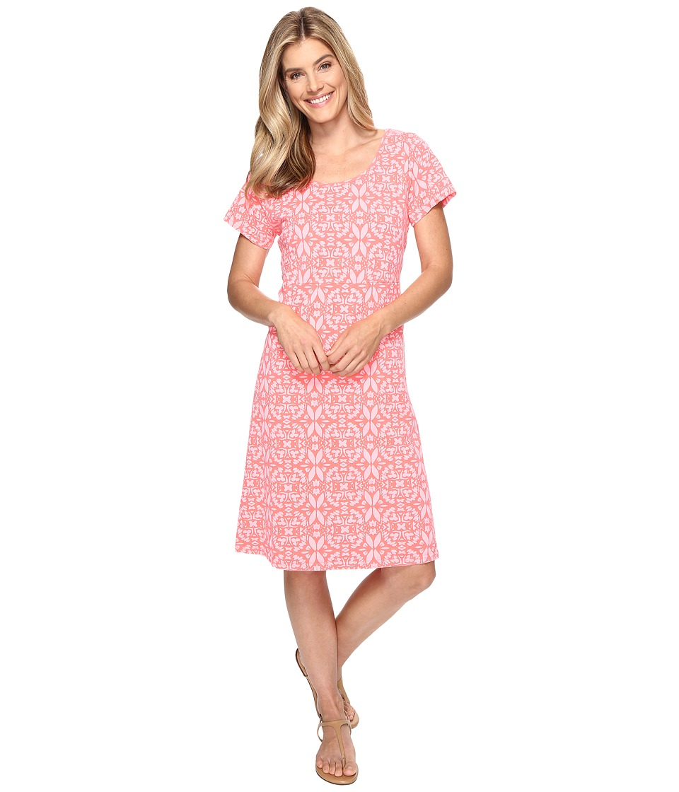 Fresh Produce - Island Batik Sadie Dress (Sunset Coral) Women's Dress