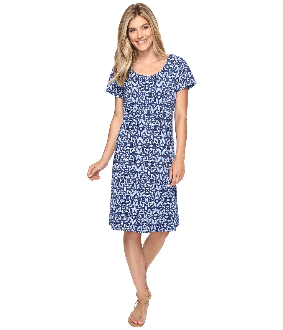 Fresh Produce - Island Batik Sadie Dress (Moonlight Blue) Women's Dress