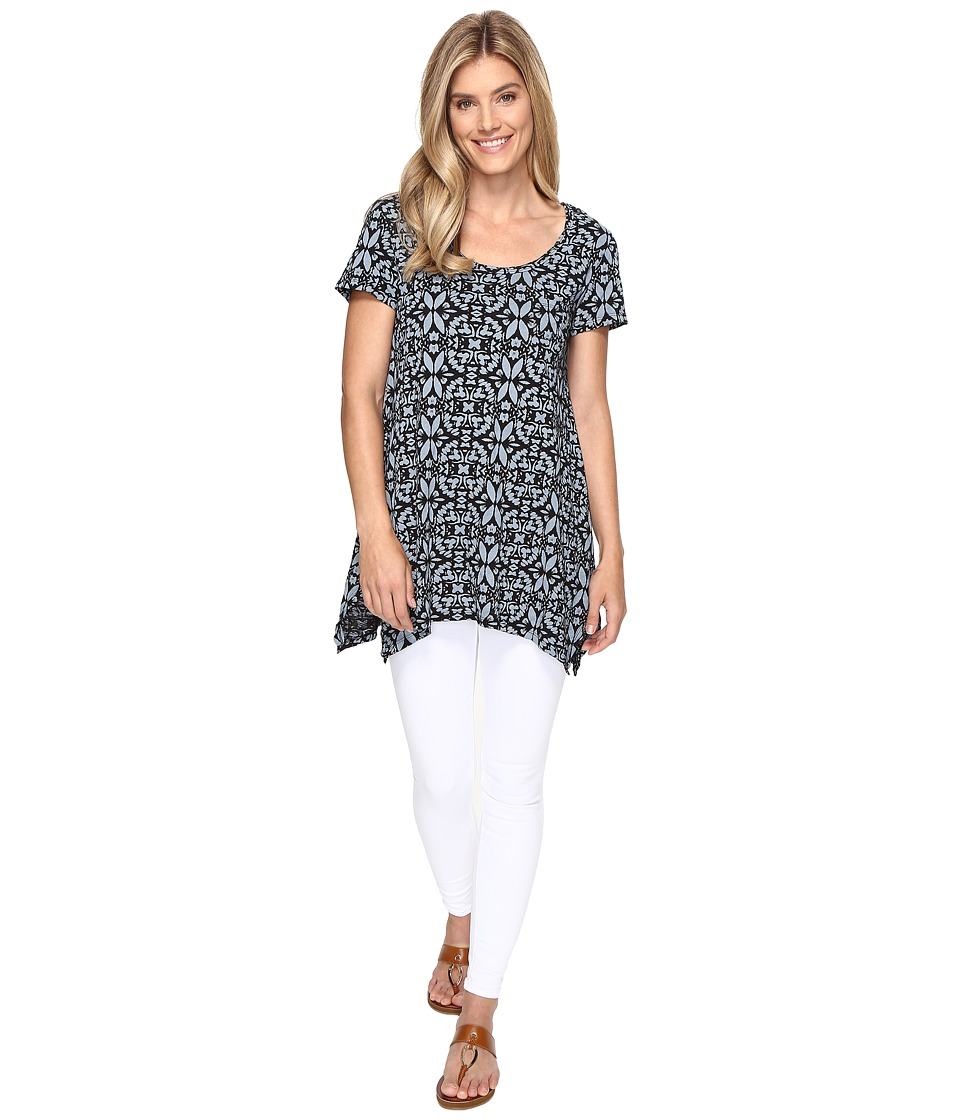 Fresh Produce - Island Batik Vintage Drape Tee (Black) Women's T Shirt