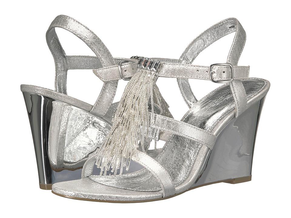 Adrianna Papell - Adair (Silver Kaftan Met) Women's Wedge Shoes