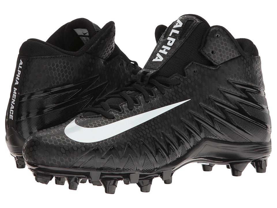 Nike - Alpha Menace Varsity Mid (Black/White/White) Men's Cleated Shoes