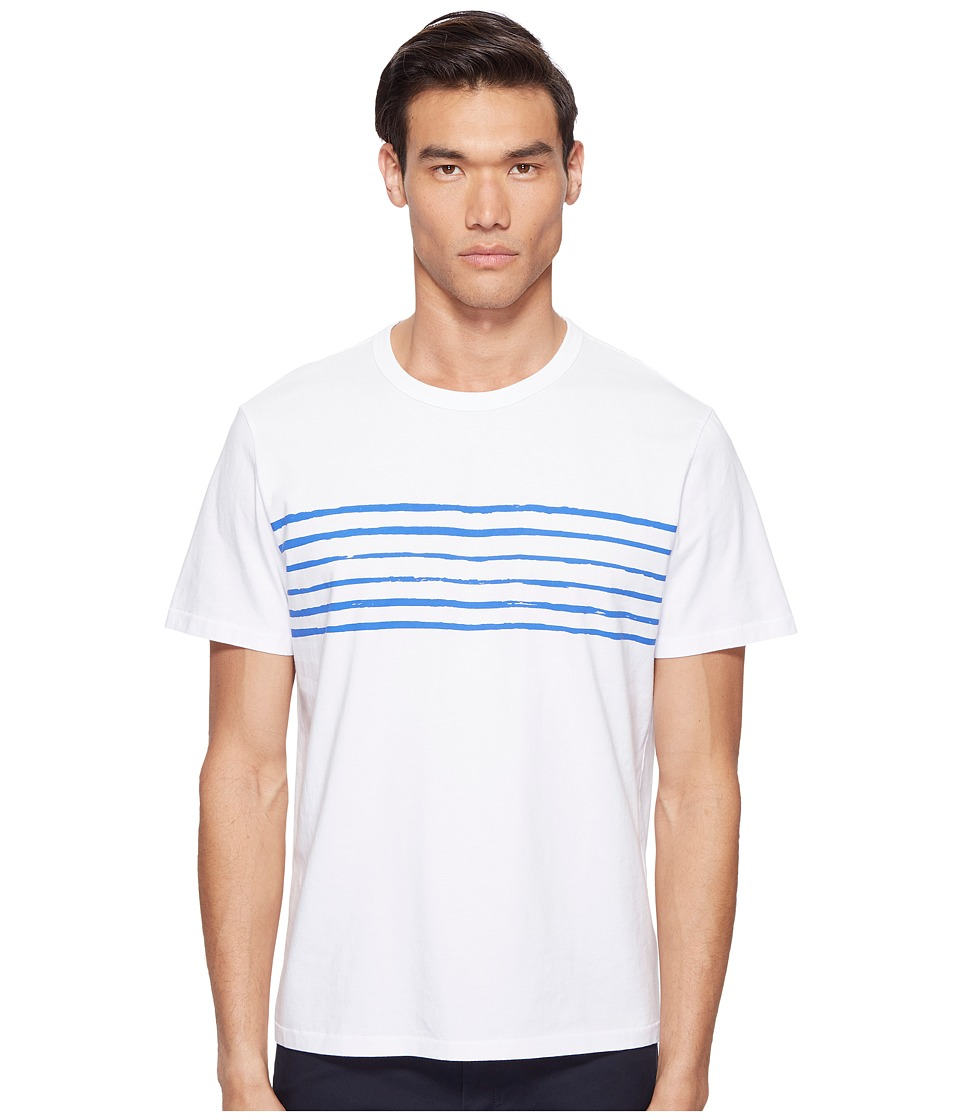 Jack Spade - Striped Printed Tee (White) Men's T Shirt